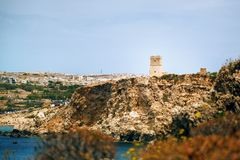 Baia dorata a Malta Fotografie Stock Libere da Diritti