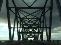 Baia e cielo del ponte di Deleware Immagini Stock Libere da Diritti