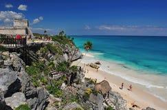 baia e spiaggia del tulum Immagine Stock Libera da Diritti