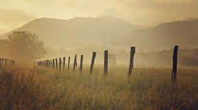 Baia fumosa di Cades delle montagne Fotografia Stock