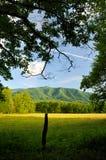 Baia fumosa di Cades delle montagne in primavera tarda Fotografie Stock