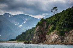 Baia grande Sarannaya, Kamchatka immagini stock libere da diritti