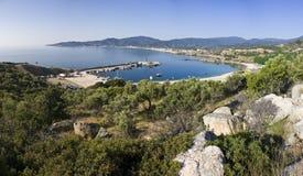 Baia in Grecia Fotografia Stock