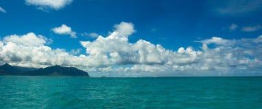 Baia Hawai O'ahu di Kane'ohe Fotografie Stock Libere da Diritti