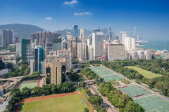 Baia Hong Kong della strada soprelevata Fotografia Stock Libera da Diritti
