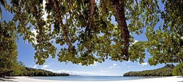Baia isolata della spiaggia Immagini Stock