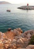 Baia in Kas. La Turchia fotografia stock