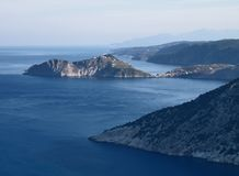 Baia a Kefallonia, Grecia Fotografia Stock
