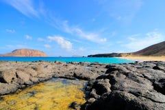 Baia Las Conchas, Graciosa, Canarie Fotografie Stock Libere da Diritti
