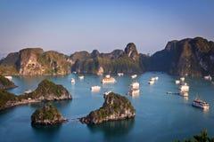 baia lunga ha all'alba, Vietnam Fotografia Stock Libera da Diritti