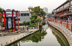 Baia Luwan Canton Guangdong Cina del litchi del canale Fotografia Stock