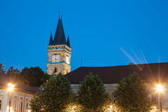 Baia Mare. The central square of Baia Mare, Romania. View by night royalty free stock photo