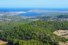 Baia in Menorca, Balearic Island, Spagna di Fornells immagine stock