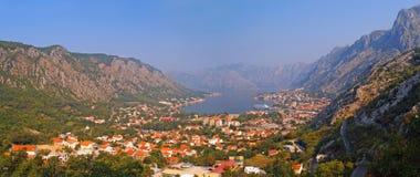 Baia Montenegro di Cattaro Immagini Stock Libere da Diritti