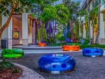 Baia-multi sedili colorati di Camana fotografia stock libera da diritti