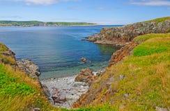 Baia riparata sulla costa atlantica Fotografia Stock Libera da Diritti