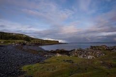 Baia rocciosa sull'isola di Skye Fotografia Stock