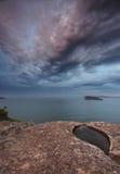 Baia rotta spiaggia Australia della perla del fromr dei cieli della pietra preziosa Fotografie Stock