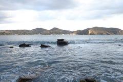 Baia San Juan Del Sur Nicaragua dell'acqua della spiaggia dell'oceano Fotografie Stock Libere da Diritti