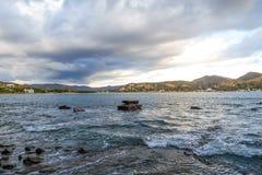 Baia San Juan Del Sur Nicaragua dell'acqua della spiaggia dell'oceano Immagine Stock Libera da Diritti