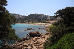 Baia Sardinia foreshortening royalty free stock images