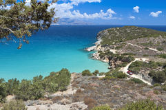 Baia scenica all'isola del Crete in Grecia Immagini Stock