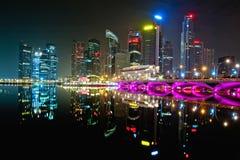 Baia Singapore del porticciolo Fotografie Stock