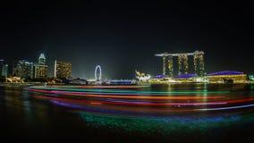 Baia Singapore del porticciolo Immagini Stock Libere da Diritti