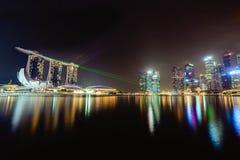Baia Singapore del porticciolo Fotografia Stock Libera da Diritti