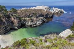 Baia/spiaggia della Cina nella riserva naturale dello stato di Lobos del punto Immagini Stock
