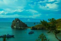 Baia sul lago Baikal Fotografie Stock