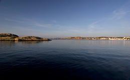 Baia sul litorale svedese Immagini Stock Libere da Diritti