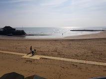Baia sulla spiaggia Fotografia Stock Libera da Diritti