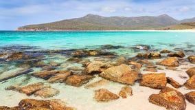 Baia Tasmania del bicchiere di vino Fotografia Stock Libera da Diritti