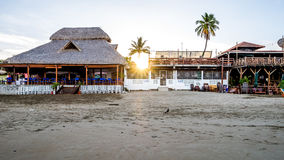 Baia tropicale San Juan Del Sur Nicaragua dell'acqua della spiaggia dell'oceano Immagini Stock Libere da Diritti