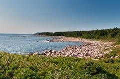 Baia verde, isola di Capo Breton Fotografia Stock Libera da Diritti