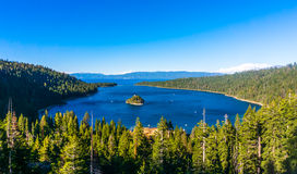 Baia verde smeraldo, Lake Tahoe Immagini Stock