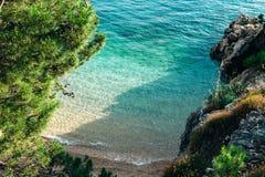 Baia vicino a Podgora, Croazia Makarska riviera Fotografia Stock Libera da Diritti