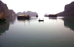 Baia Vietnan di Halong fotografia stock