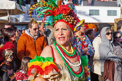Baianas, one of the most important characters of the Brazilian Carnaval Royalty Free Stock Images
