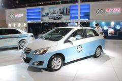 BAIC-GROEPSe150 EV zuivere elektrische taxi Stock Fotografie
