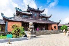 BAIDINH SPIRITUAL & TOURIST COMPLEX, NINHBINH, VIETNAM - NOVEMBER 23, 2014 - View of the Complex entrance. Royalty Free Stock Photos