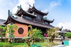 BAIDINH SPIRITUAL & TOURIST COMPLEX, NINHBINH, VIETNAM - NOVEMBER 23, 2014 - View of the Complex entrance. Royalty Free Stock Photo