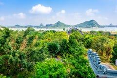 BAIDINH SPIRITUAL & TOURIST COMPLEX, NINHBINH, VIETNAM - NOVEMBER 23, 2014 - View of the Complex entrance. Stock Images