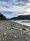 Baie à marée basse image stock