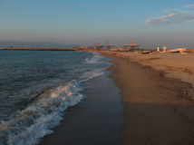 Baie au coucher du soleil Image libre de droits
