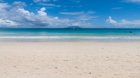 Baie Beau Vallon Beach in Seychelles Stock Photography