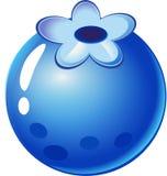 Baie bleue - porte des fruits les articles pour des jeux du match 3 illustration de vecteur