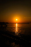 Baie calme de coucher du soleil Photo stock
