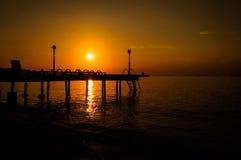 Baie calme de coucher du soleil Images libres de droits